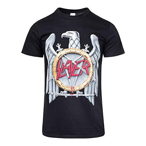Global Design Concepts Slayer Silver Eagle Uomo Black T-Shirt
