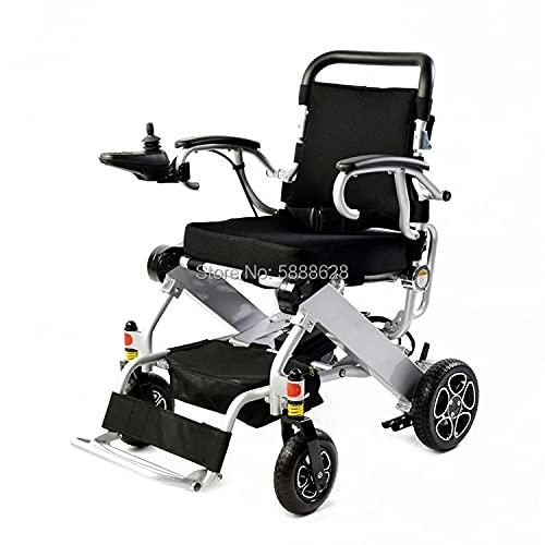 JINKEBIN Electric Silla de Ruedas Aluminio Ligero Plegable eléctrico para Venta (Color : Wheelchair)
