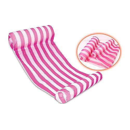XUSHEN-HU Piscina Flotador Hamaca Multiusos Inflable Hamaca Hamaca Hamaca salón Sillón (Color : Pink)
