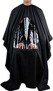 ROSENICE Barber Cape with Window - ROSENICE Hair Cut Salon Aprons With Buttons(Black)