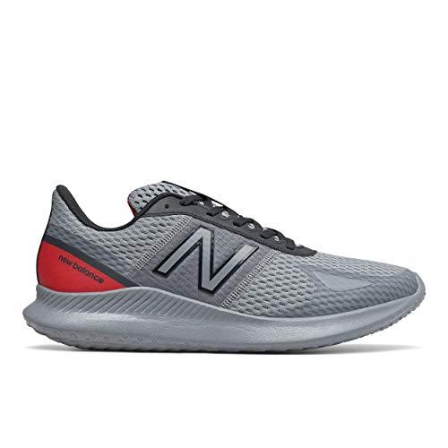 New Balance Men's Vatu V1 Running Shoe, Gunmetal/Team Red, 7.5