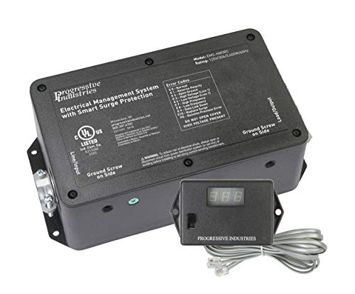 Progressive Industries HW30C 30 Amp Hardwired EMS-HW30C RV Surge & Electrical Protector Black 1