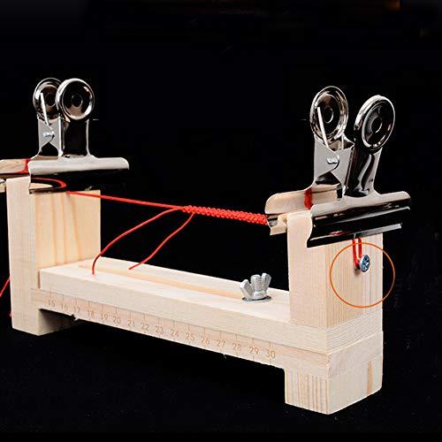 Bongba Wooden Jig Bracelet Maker Kit, Adjustable Length Paracord Bracelet Maker, Safety Lanyards Weaver DIY Cord Knitting Braiding Tool for Wristband
