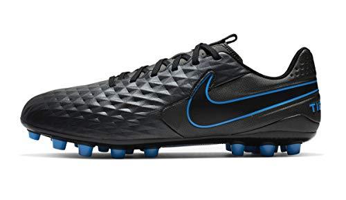 Nike Herren Legend 8 Academy Artificial Grass Fußballschuhe, Mehrfarbig Black Black Blue Hero 4, 42.5 EU