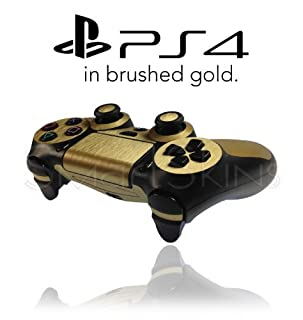 Playstation 4 PS4 Controller Skin in Brushed Gold Metal Wrap Cover Decal (B00ID6L7FU) | Amazon price tracker / tracking, Amazon price history charts, Amazon price watches, Amazon price drop alerts