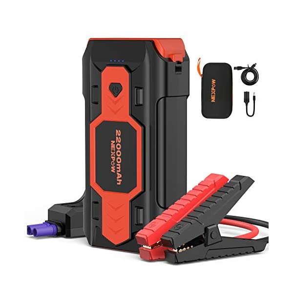 Battery Starter for Car, NEXPOW 2500A 22000mAh Portable Car Jump Starter Q9B (up...