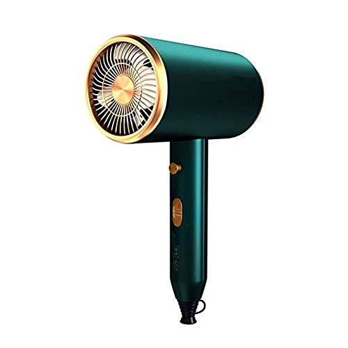 Kpcxdp Mini secador de Pelo para Dormitorio doméstico Secador de Pelo de 1800 W, Cuidado del Cabello de Alta Potencia, secador de Pelo pequeño, Aire Caliente y frío (Color: 1800 W Verde)