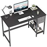 Cubiker Computer Home Office Desk, 47 Inch Small Desk Study Writing Table with Drawer, Modern Simple PC Desk, Black