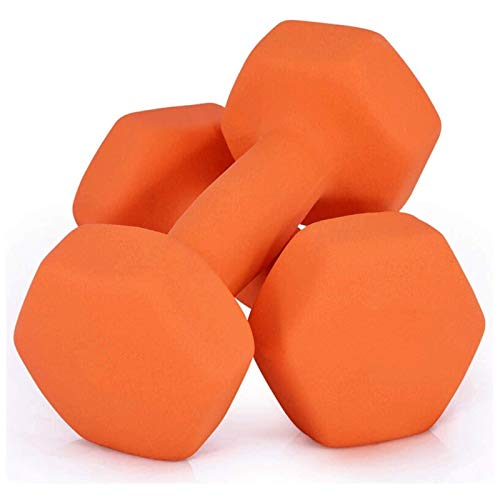 Shengluu Mancuerna Home Fitness Brazo Pesos de Mano Pilates Pewards Set (Color : Orange, Talla : 2KGx2)
