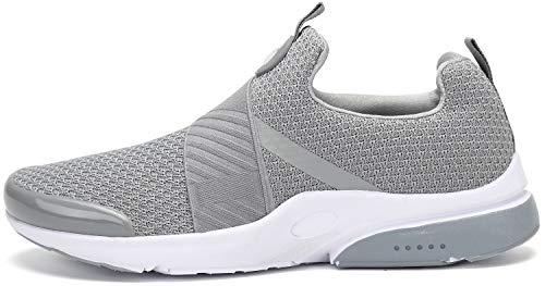 Zapatillas de Running para Hombre Mujer Zapatos para Correr Gimnasio Sneakers Deportivas Gris 42 EU