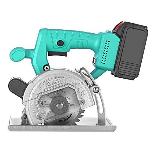 Sierra circular eléctrica Crtkoiwa de 4 pulgadas, cortadora de cortadora recargable, ideal para madera, metal blando, azulejos y cortes de plástico