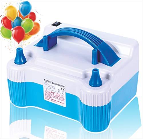 Enjoy the celebration people Electric Air Balloon Pump (Blue & White)