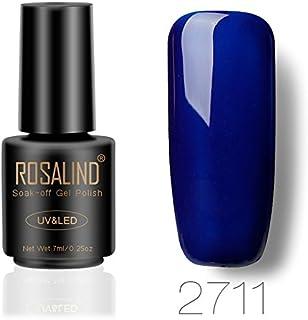 Esmalte de uñas de gel de ROSALIND para secar con UV o LED manicura y pedicura 7 ml azul 2