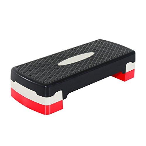 HOMCOM Step Fitness Tabla Stepper Aerobic Deporte Gimnasia Altura Regulable 2 Niveles…