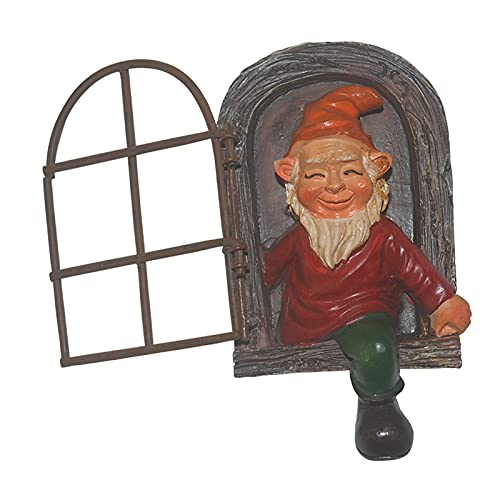 Gazechimp Elf out The Door Tree Hugger Garden Peeker Caprichosa Decoración de Patio