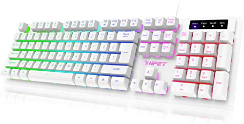 NPET K10 Gaming Keyboard USB Wired Floating...