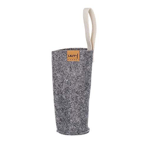 Carry Sleeve Schutzhülle für Glasflasche | Hergestellt aus reycelten PET-Flaschen | Waschbar | Mit praktischer Trageschlaufe | Handgenäht in Deutschland