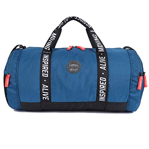 Gear Inspired Alive Moving 34 Ltrs Blue Travel Duffle for gym, sports, training (DUFINDAVMVG05)