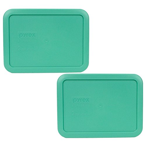 Pyrex 7210-PC Rectangle 3 Cup Storage Lid for Glass Dish (2, Light Green)