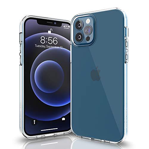 Techump Clear Fit Cover Compatibile con iPhone 12 PRO Max, Custodia Trasparente per Assorbimento degli Urti con Paraurti in TPU Morbido [Protettiva Sottile] per iPhone 12 PRO Max - Trasparente
