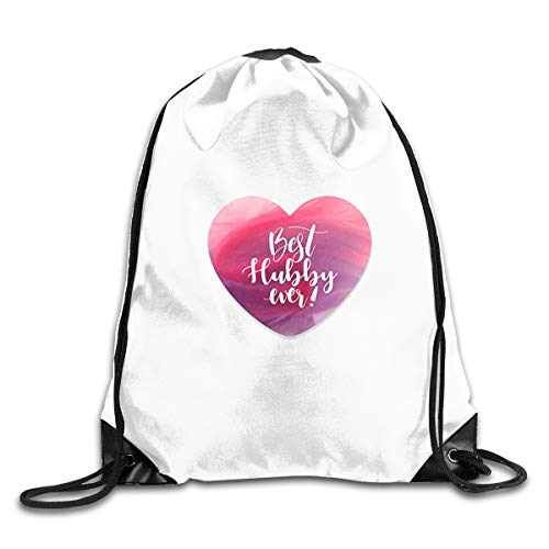 Best Hubby Bundle Backpack Drawstring Bags Eat Sleep Dance Repeat Beam Mouth Backpack Basketball Tennis Gympack