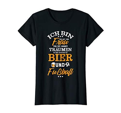 Damen Spielerfrau Geschenk Traumfrau Fußball T-Shirt