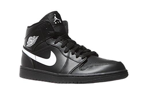 Nike Herren AIR Jordan 1 MID Basketballschuhe, Mehrfarbig (Black/White-Black 049), 42 EU