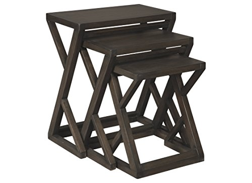 Signature Design by Ashley - Cairnburg Accent Tables - Set of Three - Casual - Brown