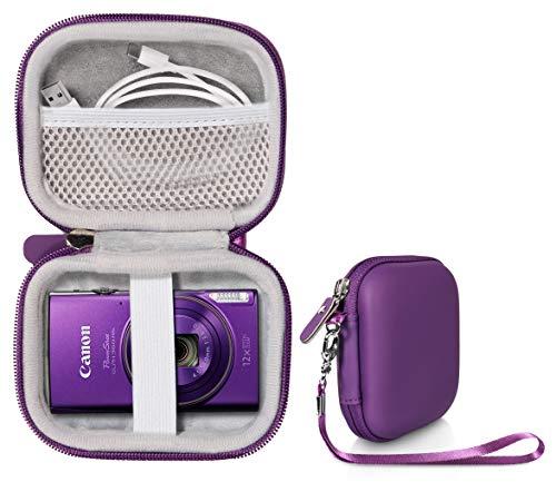 Digital Camera Case for Sony W800/S, DSCW830; Canon PowerShot ELPH180, ELPH 190, ELPH 350 HS, ELPH 310 HS, ELPH 360; Kodak PIXPRO Friendly Zoom FZ43, FZ53-BL; Nikon COOLPIX L32 (Purple)