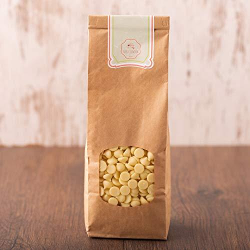 süssundclever.de® Bio Kuvertüre | Callets | weiß | 1 kg | Premium Qualität | plastikfrei und ökologisch-nachhaltig abgepackt