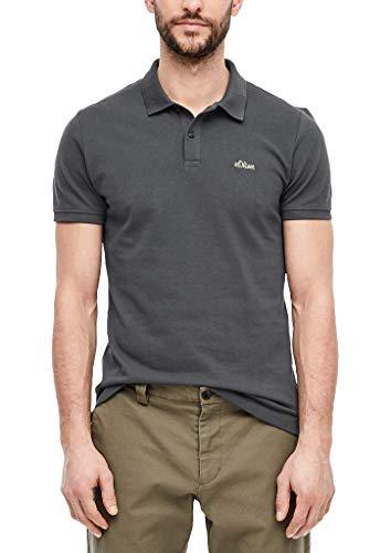 s.Oliver RED Label Herren Poloshirt mit Waffelpiqué-Struktur Grey XXL
