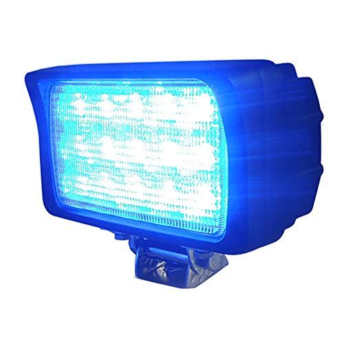 LED 集魚灯 サーチライト デッキライト 防水 船 船舶 漁船 漁 ボート (12v 24v 兼用) (小型 拡散照射 (角型 発光色 ブルー) wlk-45w-blue)