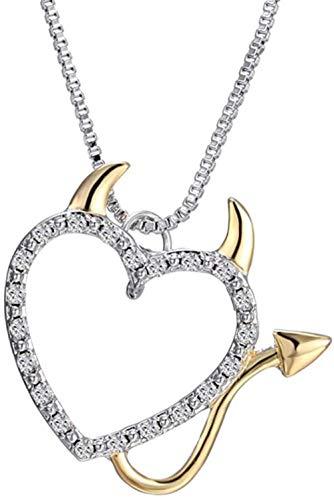 NC110 Amor corazón Diablo corazón Colgante Collares joyería YUAHJIGE