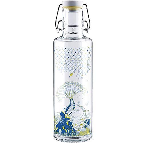 soulbottles Unisex– Erwachsene Korallenreich X Bracenet Trinkflasche, bunt, 600 ml