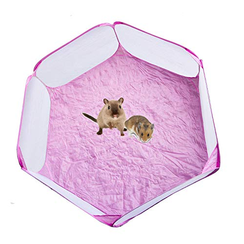 Draagbare Hamster Playpen Guinea Varken Playpen Kleine Animal Play Pen Hamsters Run Playpen Huisdieren Pop Open Oefening Yard Hek voor Konijnen, Chinchillas en Egels