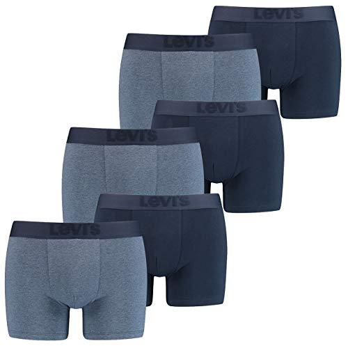 12er Pack Levis Premium Boxer Brief Boxershorts Herren Unterhose Pant Unterwäsche, Farbe:Navy, Bekleidungsgröße:L