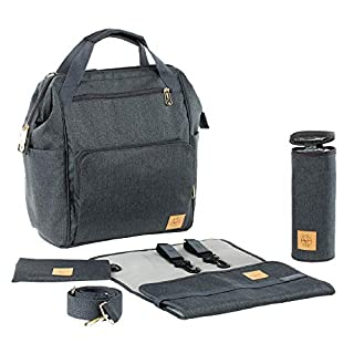 Lassig Women's Glam Goldie Backpack Diaper Bag - Anthracite (B06XK2J922)   Amazon price tracker / tracking, Amazon price history charts, Amazon price watches, Amazon price drop alerts