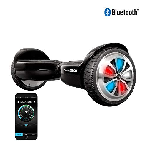SWAGTRON T500 App-Enabled Bluetooth Hoverboard for Kids, LED Light-Up Wheels, Entry-Level Self-Balancing Scooter with Learning Mode, UL2272