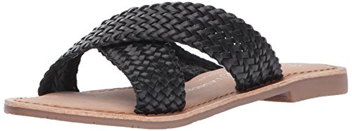 Chinese Laundry Women's Popular Slide Sandal,Black Leather,6 M US
