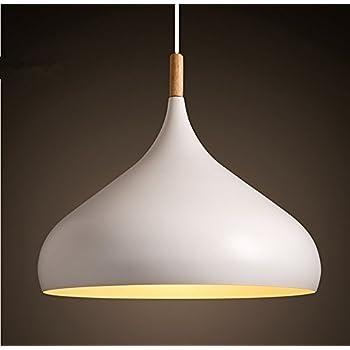 Moderne Pendelleuchte Lampenschirm Hängeleuchte Anhänger E27 Fassung LED Deckenleuchte Beleuchtung Heimspiel für Dinning Wohnzimmer Schlafzimmer (Weiß)