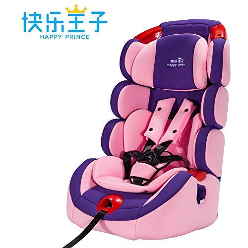 Autosicherheitssitz Kindersicherheitssitz Baby Babyauto 9 Monate-12 Jahre alt Verstellbares Kissen für Babysicherheits-Begleitung, Pulver aus Angel