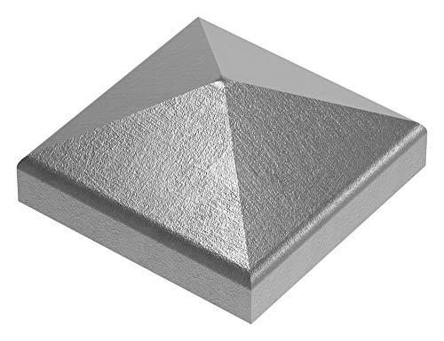 Fenau | Pfeilerbedecker/Pfosten-Kappe für Quadratrohr | 80x80 mm | Stahl (Roh) S235JR