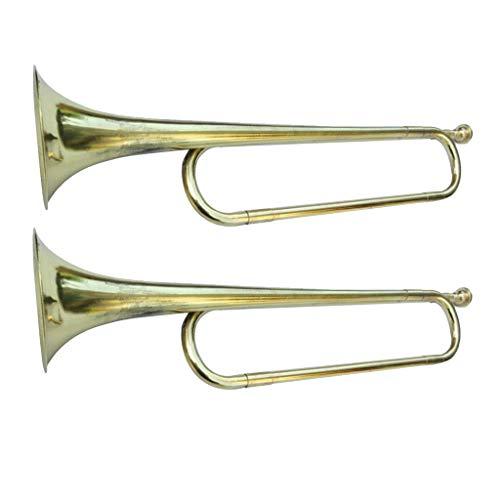 2 Stück Bb Signalhorn Kavallerie Trompete silber