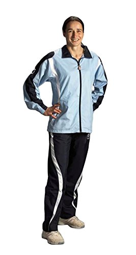 Ju-Sports Damen Trainingsanzug Aragoas Lady Cut, Sky Blau/Navy/White, S (36), 1110036