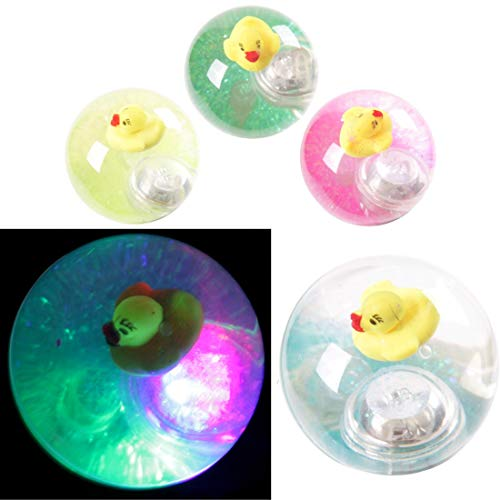 TY543 Fun Kids Flashing Rubber Bouncy Ball - Duck