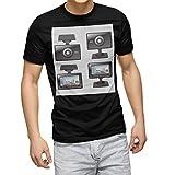 igsticker プリント Tシャツ メンズ 3XL size サイズ おしゃれ クルーネック 黒 ブラック t-shirt 016169 ドライブレコーダー