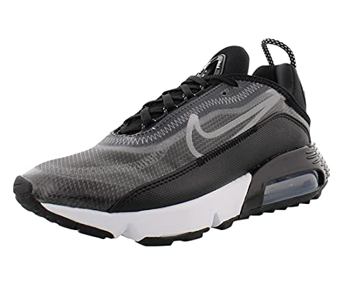 Nike Mujeres Air MAX 2090 Running Trainers CK2612 Sneakers Zapatos (UK 4.5 US 7 EU 38.5, Black White Silver 002)