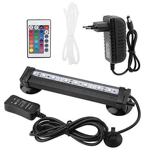 Aquarium Beleuchtung RGB LED Aquariumbeleuchtung Aquarium Bubble Light IP68 Wasserdichtes Aquarium Tauch Licht Unterwasser LED Lampe mit 24 Key Fernbedienung(16cm)