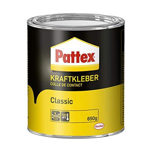 Pattex Kraftkleber Classic, extrem starker Kleber für höchste Festigkeit, Alleskleber für den universellen Einsatz, hochwärmefester Klebstoff, 1 x 650g