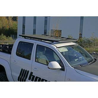 horntools Dachträger NAVIS Isuzu DMAX flach Alu schwarz optional mit Reling by Offroad 4x4 Dachzelt